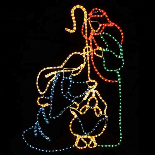 Christmas Fancy Large LED 2D Motif Light Wire Frame for Public Decoration