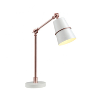Office Living Room Bar Bedroom Use Black White High Brightness E14 Bulb Iron Led Table Lamp