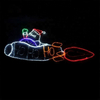 Outdoor 2D Santa Claus LED Illuminated Christmas Motif light for Street Commercial Holiday Displays