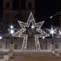 Cross Street Led Star Decoration Light Motif