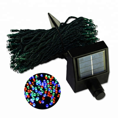 200L Waterproof Battery Powered LED String Light With Solar Panel