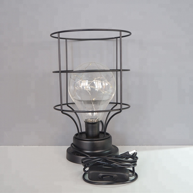 High Brightness Custom High Quality Fully Waterproof Evermore USB Powered Retro Edison Vintage Table Lamp