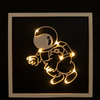 Wooden Frame Light With Astronaut Pattern