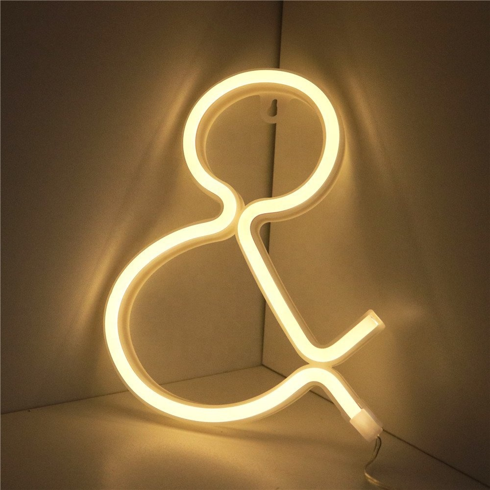Wall Table Hanging Decoration Alphabetical Letter Numbers Pinkbluepurple Warmwhite Whitered Available Led Neon Sign