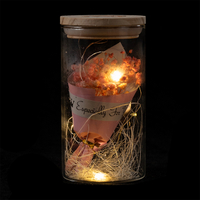 EVERMORE Pink Open-herding With Natural Color Thread and Letter 4L Warm White LED Bare Wire Glass Cover Light
