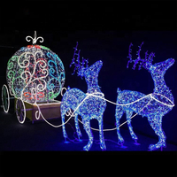Christmas Outdoor Running Strip 3D Reindeer LED Motif Light