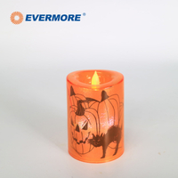 EVERMORE Battery Operated Window Glitter LED Candle Light