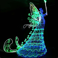 Led 3d Angel Motif Motif Light Christmas Decoration