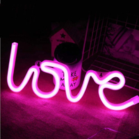 USB or Battery Powered Neon Sign LED Night Light