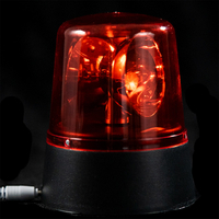 EVERMORE Red Rotatable Plastic Lampcover With Headphone Hole LED Light