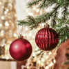 2020 New Design Hanging Christmas Ornaments Plastic Christmas Ball
