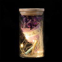 EVERMORE Purple Open-herding With Natural Color Thread and Letter 4L Warm White LED Bare Wire Glass Cover Light