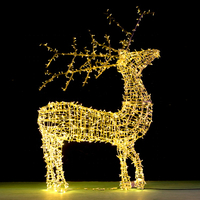 Outdoor Street Landscape Unique Aluminum Frame LED Christmas Standing Reindeer Animal