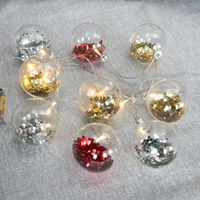 10 LED Battery Operated Mini LED Globe String LIght Ball Light
