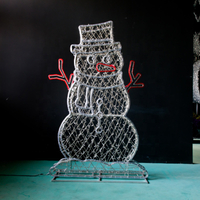 Evermore Outdoor Christmas Decoration LED Snowman Motif Light