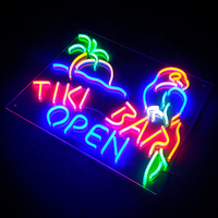 Customized Shop Flashing Flex Advertising Hanging Restaurant Good Waterproof Performance LED Neon Sign